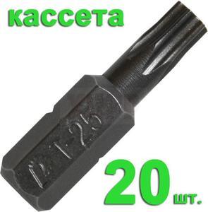 "Бита отверточная ПРАКТИКА  .""Профи""   Torx-25 х 25мм  (20шт), кассета"
