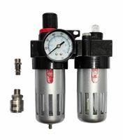 Регулятор давления QUATTRO ELEMENTI MF-3, с лубрикатором и фильтром, разъем EURO