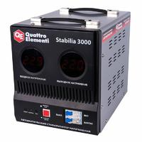 Стабилизатор напряжения QUATTRO ELEMENTI Stabilia  3000 (3000 ВА, 140-270 В, 8.0 кг, байпас)