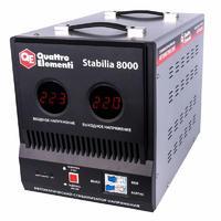 Стабилизатор напряжения QUATTRO ELEMENTI Stabilia  8000 (8000 ВА, 140-270 В, 16.5 кг, байпас)
