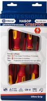 Набор отверток диэлектрических КОБАЛЬТ Ultra Grip CR-V (6 шт.) коробка