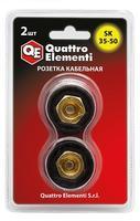 Кабельный разъем QUATTRO ELEMENTI розетка кабельная сварочного аппарата SК 35-50 ( до 315 А/45В)  2 шт в блистере