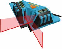 Уровень лазерный ПРАКТИКА для укладки плитки, 2 луча под углом 90 град, видимость до 7 м