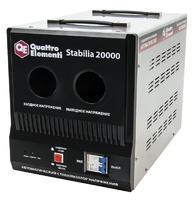 Стабилизатор напряжения QUATTRO ELEMENTI Stabilia 20000 (20000 ВА, 140-270 В, 25.5 кг, байпас)