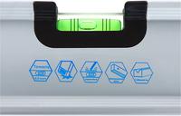 Уровень строительный КОБАЛЬТ Экстра, 1200 мм, профиль 30 x 65 мм, 3 глазка, 2 ручки, V-паз, точность 0,5 мм/м