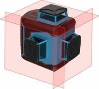Нивелир лазерный линейный ПРАКТИКА НЛ360-3K, 3 перпендикулярные линии 360 град, до 20м, очки/мишень/кронштейн/кейс