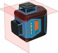 Нивелир лазерный линейный ПРАКТИКА НЛ360-2, 2 взаимно перпендикулярных линии 360 град, до 20м, алюминиевый кейс