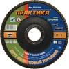 Круг лепестковый шлифовальный ПРАКТИКА 125 х 22 мм Р100 (1шт.) серия Профи