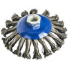 Кордщетка для МШУ радиальная с наклоном витая ПРАКТИКА 125 мм М14 (1шт.) блистер