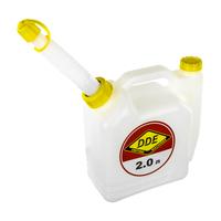 Канистра DDE для приготовления топливной смеси, 2 л, трубка для заливки