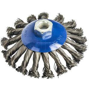 Кордщетка для МШУ радиальная с наклоном витая ПРАКТИКА 115 мм М14 (1шт.) блистер