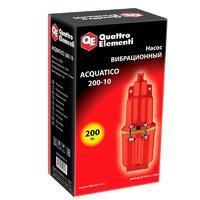 Вибрационный насос QUATTRO ELEMENTI Acquatico 200-10 (200 Вт, 960 л/ч, для чистой, 40м, кабель10 м, 2,4кг).