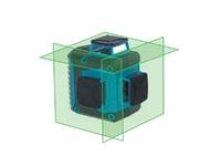Нивелир лазерный линейный ПРАКТИКА НЛЗ-360-3, ЗЕЛЕНЫЙ 3 взаимно перпендикулярных линии 360 град, дальность до 20м, ALU-кейс
