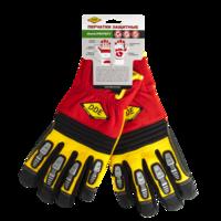 Перчатки DDE shock-PROTECT  кожа /спандекс,  размер  M