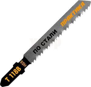 Пилки для лобзика по стали ПРАКТИКА тип T118B 76 х 50 мм, быстрый рез, HSS (2шт.)
