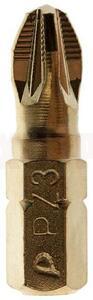 """Бита отверточная ПРАКТИКА """"Эксперт""""   PZ-3 х 25мм Tin (1шт), блистер"""