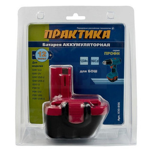 Аккумулятор для BOSCH ПРАКТИКА 12В, 1,5 Ач, NiCd блистер