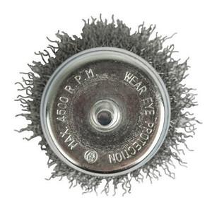 Кордщетка для дрели чашеобразная мягкая ПРАКТИКА  75 мм, хвост 6 мм