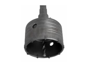 Коронка твердосплавная ПРАКТИКА SDS-Max ударная  90 мм (1шт.) клипса