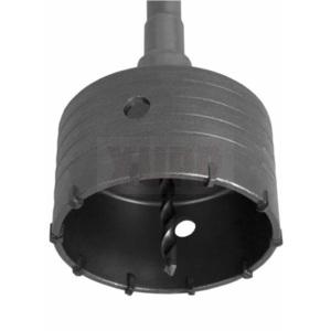 Коронка твердосплавная ПРАКТИКА SDS-Max ударная 100 мм (1шт.) клипса